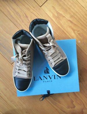 Lanvin Hightop Sneakers beige/schwarz