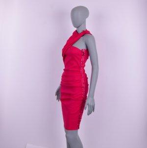 Lanvin Abito elasticizzato rosso neon-magenta Lino