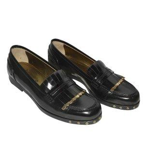 Lanvin Loafers aus Leder in Schwarz, Gr. 38,5