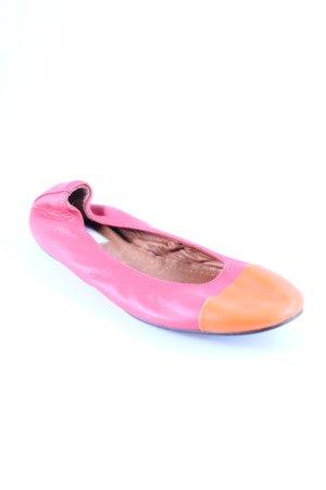 Lanvin Mary Jane Ballerinas hellorange-lachs Colourblocking 60ies-Stil