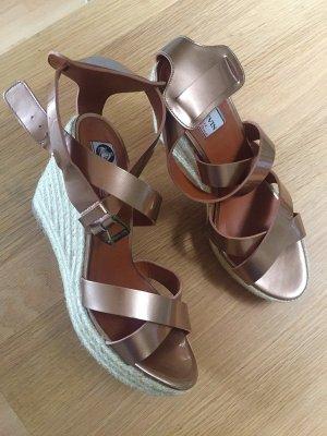 Lanvin Platform Sandals bronze-colored