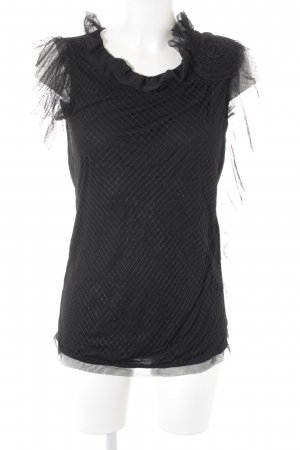 Lanvin Netzshirt schwarz 2in1-Optik