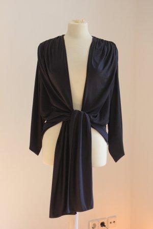 LANVIN - (NICHT aus der Linie von H&M!) - Bluse, fein, marineblau - Preis: verhandelbar!