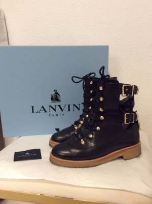 LANVIN Paris Leder biker boots