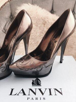 Lanvin Plateau Pumps Silber Street Fashion Look