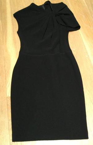 Lanvin Shift Dress aus schwarzer Wolle, asymmetrische Schulter