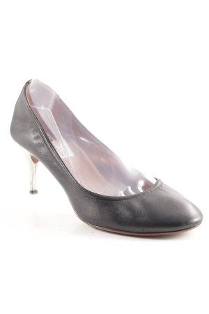 Lanvin Spitse pumps zwart-zilver elegant