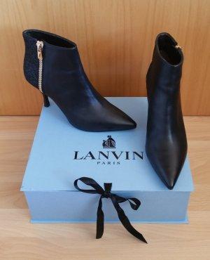 Lanvin Scarpina di lana nero Pelle