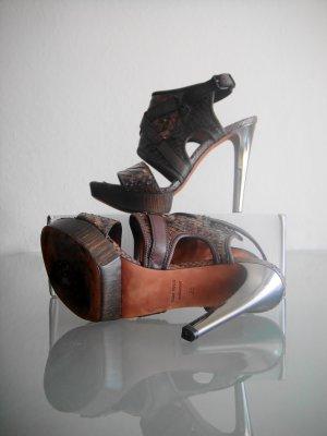 Lanvin Stiletto Sandalette Pumps Plateau Platform Luxus