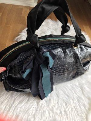 Lanvin Bowling Bag black-cornflower blue