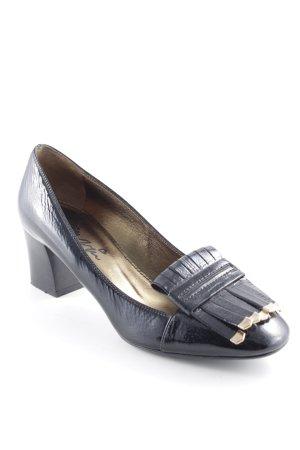Lanvin Loafer nero-oro elegante