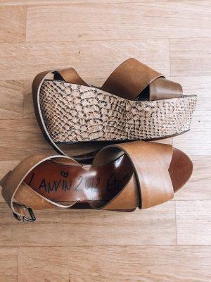 Lanvin Platform High-Heeled Sandal multicolored