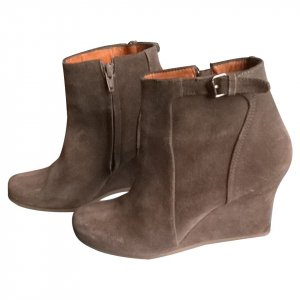 Lanvin Wedges in Khaki
