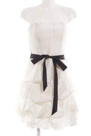 Laona Ballonkleid weiß-schwarz Elegant