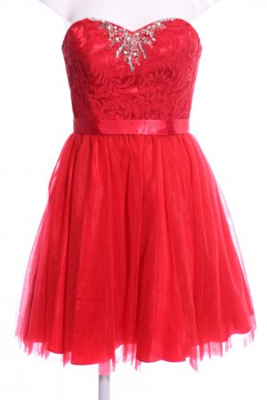 Laona Vestido bandeau rojo estampado floral elegante