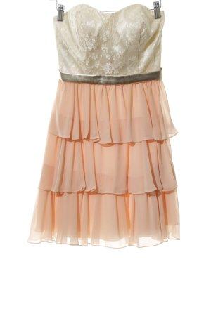 Laona Bandeaukleid apricot-creme Blumenmuster Elegant