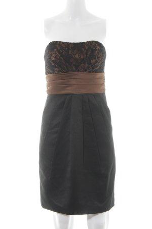 Laona Bandeaukleid bronzefarben-schwarz Elegant
