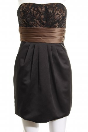 Laona Bandeaukleid schwarz-bronzefarben Blumenmuster Elegant