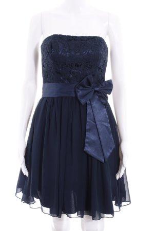 Laona Vestido bustier azul oscuro estampado floral elegante
