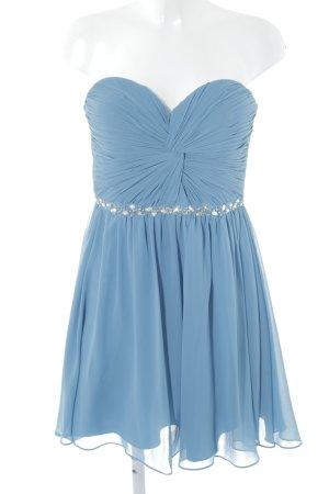 Laona Vestido bustier azul aciano Adornos de piedras preciosas