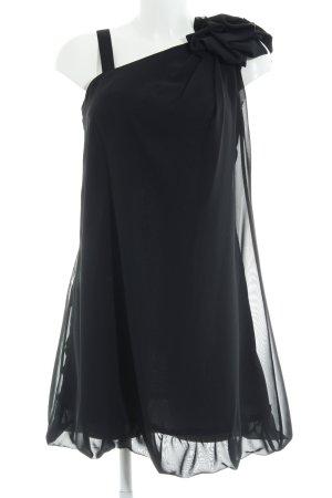 Laona Chiffonkleid schwarz Elegant