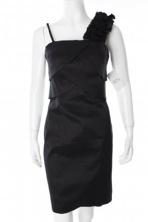 Laona One Shoulder Dress black Layered fabric detail