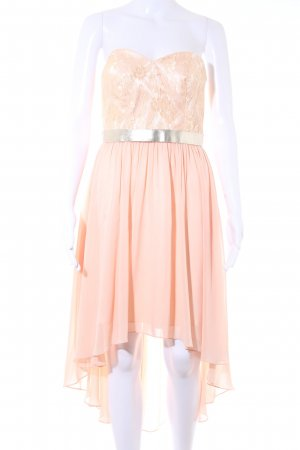 Laona High Low Dress apricot-silver-colored flower pattern elegant