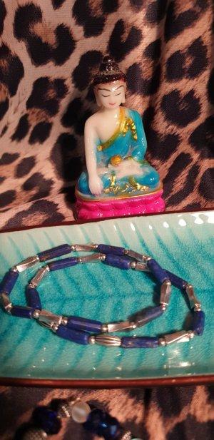 Pearl Bracelet dark blue-silver-colored