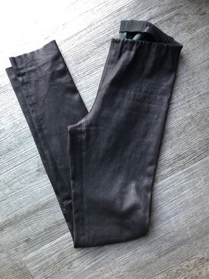 Lapis Leather Trousers black leather