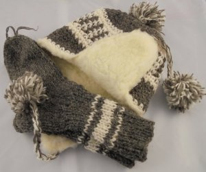 Lapland Hat cream-ocher wool