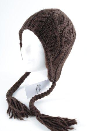 Lapland Hat brown-dark brown herringbone pattern urban style