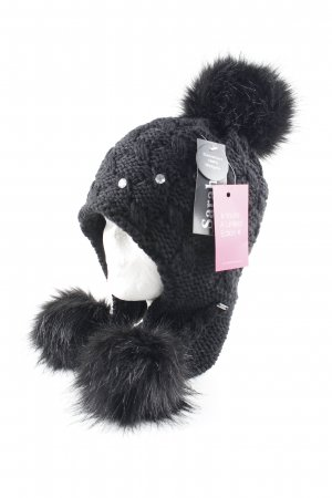 Lapland Hat black weave pattern casual look