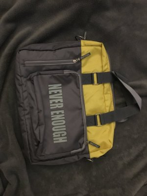Yellow cab Laptop bag grey-neon yellow nylon
