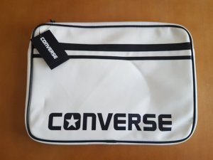 Converse Laptop bag white-black synthetic material