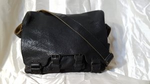 aunts & uncles College Bag black leather
