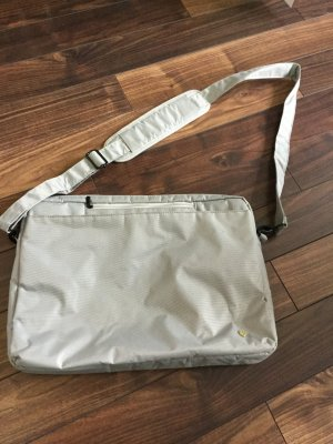 Laptop bag light grey-silver-colored