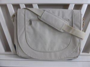 Sacoche d'ordinateur beige-crème fibre textile