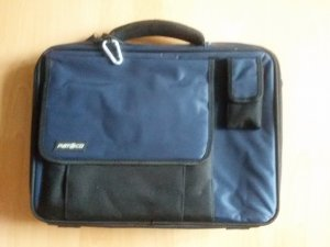 Laptop bag black-blue