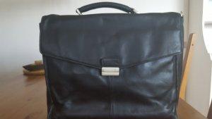 Laptoptasche schwarz Leder