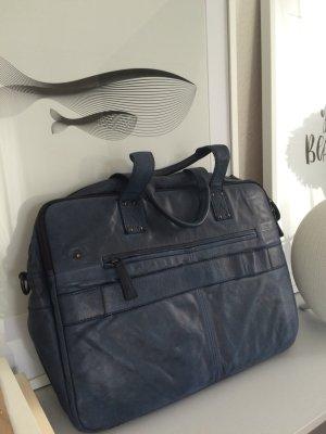 Laptoptasche VOI Echtleder blau Handmade