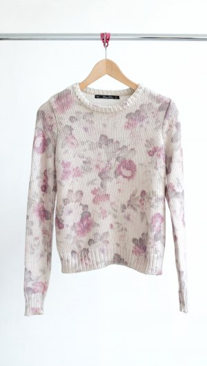 Lara Knit Pullover -geblümt