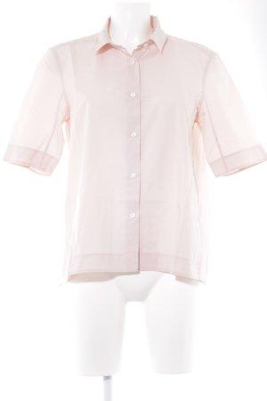 Lareida Kurzarm-Bluse hellrosa klassischer Stil