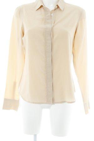 Lareida Langarm-Bluse beige Business-Look