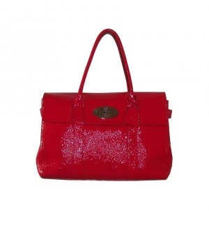 Mulberry Tote raspberry-red-silver-colored