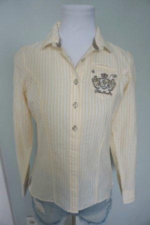 Largentina Shirt Blouse white-yellow cotton