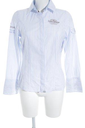 Largentina Langarmhemd himmelblau-weiß Streifenmuster Business-Look