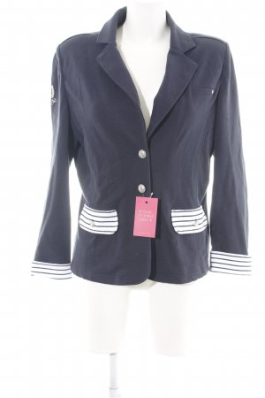 Largentina Sweat Blazer white-blue striped pattern casual look