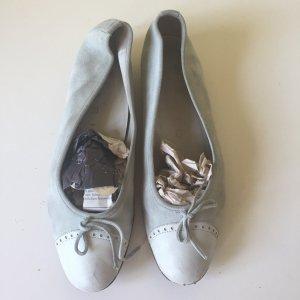 Lario Echtleder Ballerinas Gr. 38 hellblau