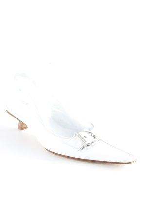 Lario Slingback pumps wit vintage producten