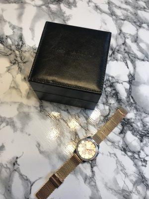 Reloj analógico color rosa dorado-color plata